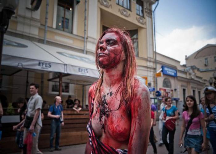 Фотографии сексуальных и красивых девушек зомби.